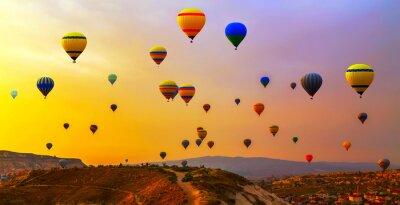 Canvastavlor ballonger CappadociaTurkey.