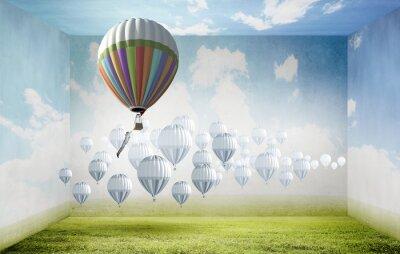 Canvastavlor Ballonger i himlen