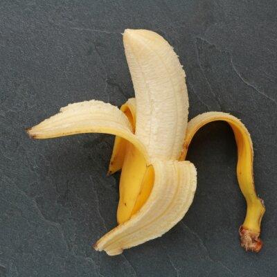 Canvastavlor Banana sur ardoise