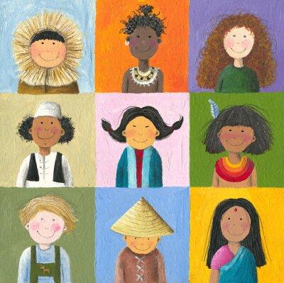 Canvastavlor barn i världen