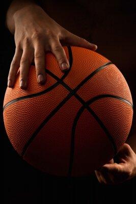 Canvastavlor Basket bollen i manliga händer