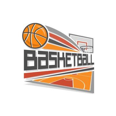 Canvastavlor basket logo