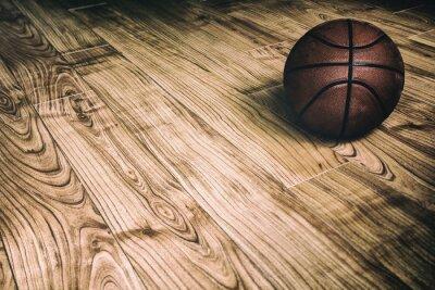 Canvastavlor Basket på Hardwood 2