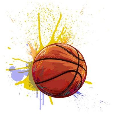 Canvastavlor Basket Skapad av professionell konstnär. Denna illustration är skapad av Wacom tabletby hjälp av grungestrukturer och borstar