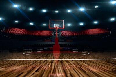 Canvastavlor Basketplan. Sport arena.