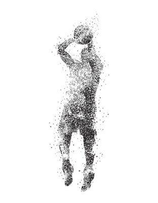 Canvastavlor basketspelare, silhuett