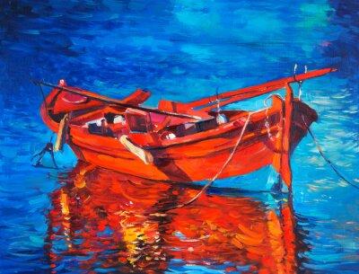 Canvastavlor Båt