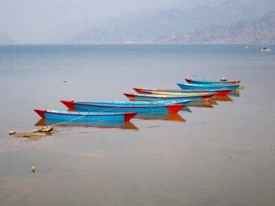 Canvastavlor Båtar på sjön Fewa