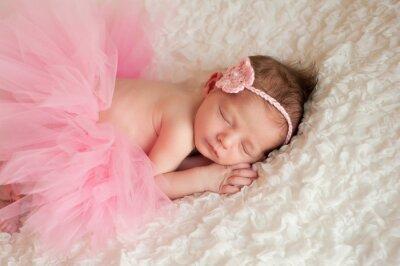 Canvastavlor Behandla som ett barn flicka klädd i en rosa Tutu