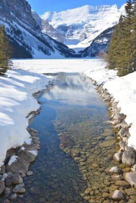 Canvastavlor Berg och flod
