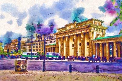 Canvastavlor Berlin art illustration