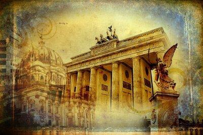 Canvastavlor Berlin konstdesignillustration