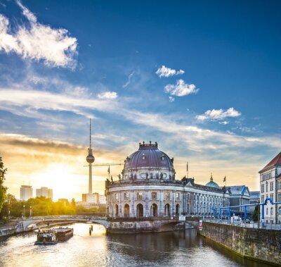 Canvastavlor Berlin, Tyskland Scene på Museumsinsel