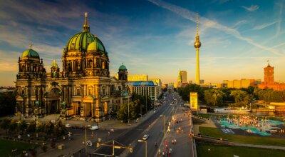 Canvastavlor Berlin - utsikt över staden