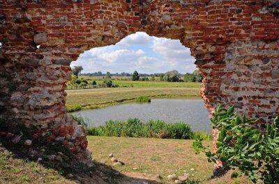Canvastavlor Besiekiery, Ruiny gotyckiego zamku, Polska