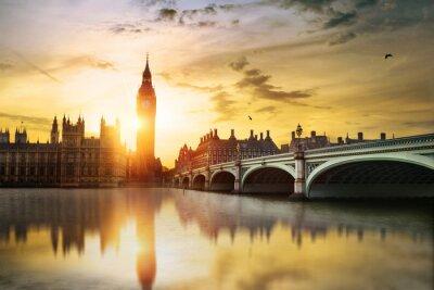 Canvastavlor Big Ben och House of Parliament