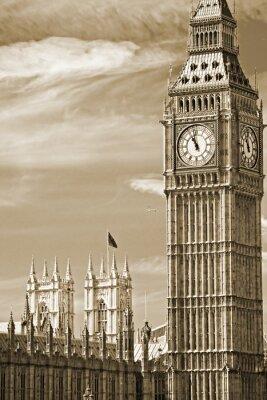 Canvastavlor Big Ben, parlamentsbyggnaden och Westminster Bridge