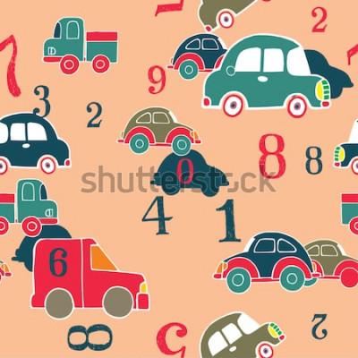 Canvastavlor bilar och siffror