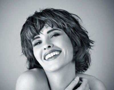 Canvastavlor Bild av vacker skratta kvinna