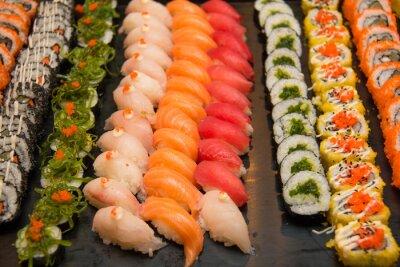 Canvastavlor Blandade japanska sushi