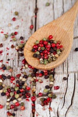 Canvastavlor blandning av paprika i sked