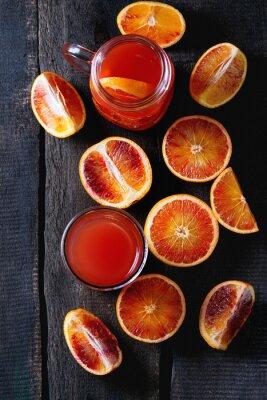 Canvastavlor Blod apelsiner med juice