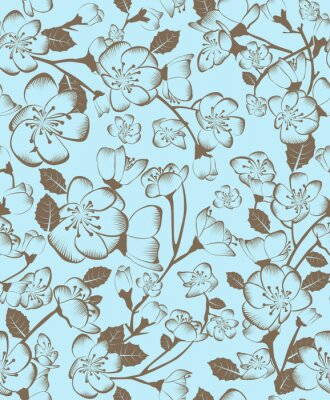 Canvastavlor blommönster