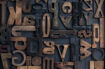 Canvastavlor boktryck alfabetet