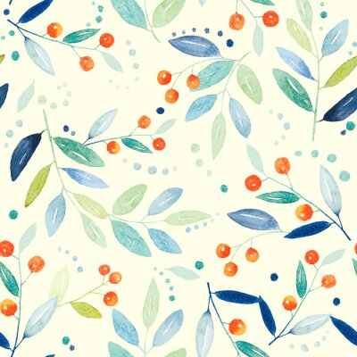Canvastavlor Botaniska seamless