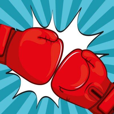 Canvastavlor Boxhandskar konstruktion