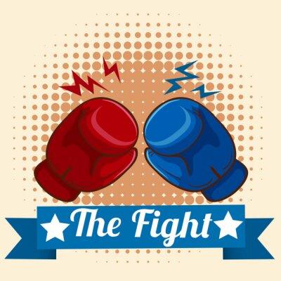 Canvastavlor Boxhandskar och figthing tecken
