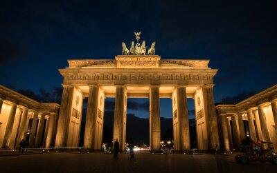 Canvastavlor Brandenburger Tor Berlin Tyskland