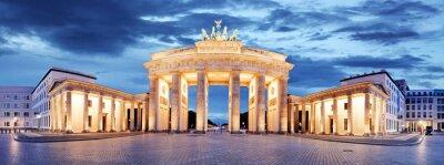 Canvastavlor Brandenburger Tor, Berlin, Tyskland - panorama