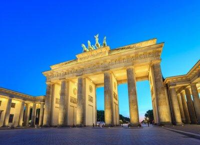Canvastavlor Brandenburger Tor på natten - Berlin - Tyskland