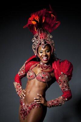 Canvastavlor Brasiliansk Samba Dancer