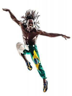 Canvastavlor brasiliansk svart man dansare hoppning silhuett