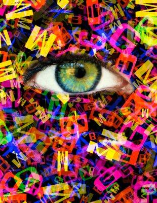 Canvastavlor brev Eye