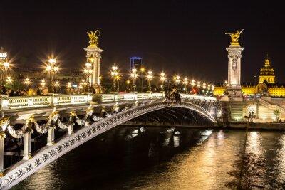 Canvastavlor Bridge av Alexandre III i Paris