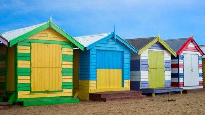 Canvastavlor Brighton Beach lådor, Melbourne, Australien