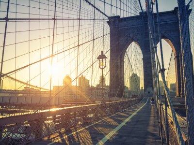 Canvastavlor Brooklyn Bridge New York