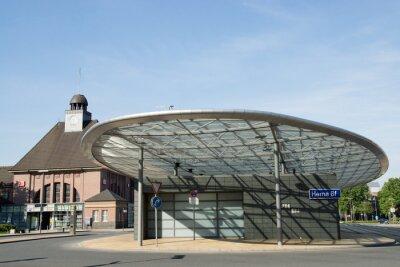 Canvastavlor Busbahnhof i Herne, NRW, Deutschland