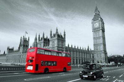 Canvastavlor Buss i London