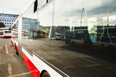 Canvastavlor Busstation
