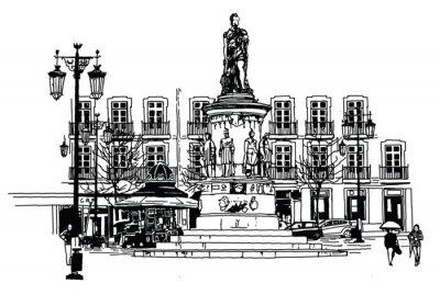 Canvastavlor Camões Square i Lissabon