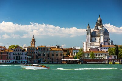 Canvastavlor Canal Grande och basilikan Santa Maria della Salute, Venedig, Italien