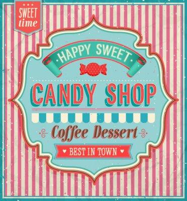 Canvastavlor Candy Shop - vektor illustration