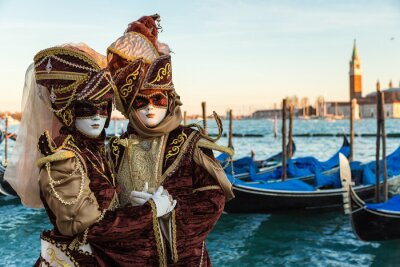 Canvastavlor carnevale Venezia