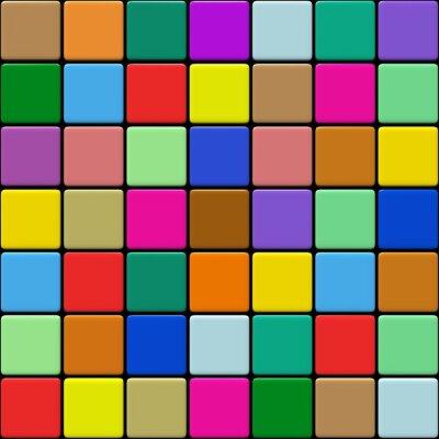 Canvastavlor Carrelage Multicolore 1,03
