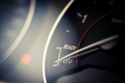 Canvastavlor Cars takometer detalj