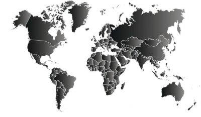 Canvastavlor carte du monde 06072015